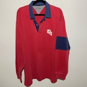 TOMMY HILFIGER Men's XL  Rugby Polo Longsleeve